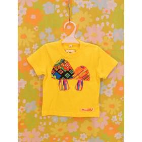 KID'SきのこTシャツ 90 YELLOW[prjo-65-90ye]