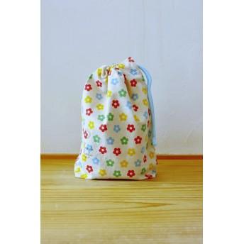 給食袋(綿麻カラフルおはな)