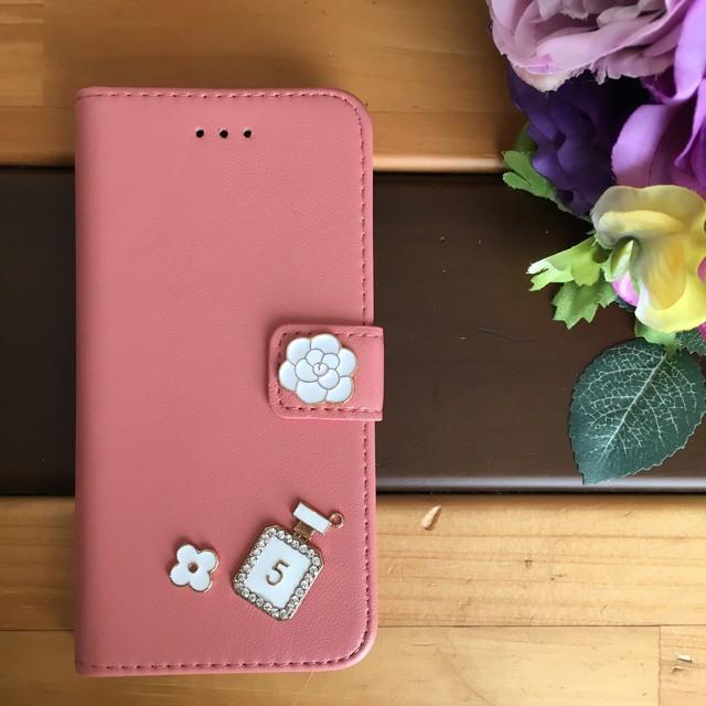 ce9d3f1f6b iPhone7.8☆春にオススメ綺麗なピーチピンク色☆人気の手帳型 ...