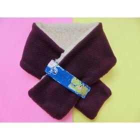SALE:ふわモコキッズマフラー・紫×動物