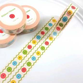 ♪ 一周年感謝企画♪ 刺繍風 マスキングテープ(ボタン)