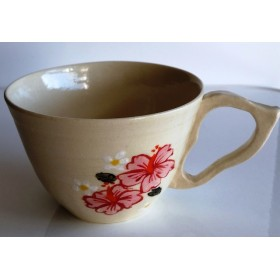 ハイビスカスのコーヒーカップ_その2