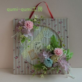 qumi-qumi工房 あじさいの壁飾りNo1