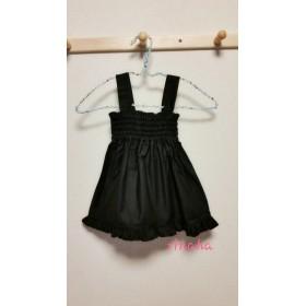ブラック フリル付きスカート