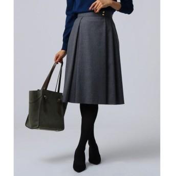 UNTITLED / アンタイトル [L]【洗える】ウール地ミディ丈スカート