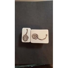 メタセコイアの実 stamp