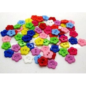 お花のボタン*約100個*約12×12ミリ