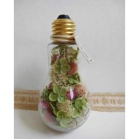 紫陽花アナベル*電球型ボトルフラワー /Mサイズ