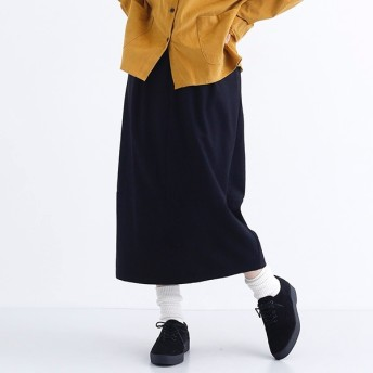 [マルイ]【セール】ウールミックス裾切替タックスカート/メルロー(merlot)