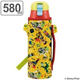 水筒 子供 トイ・ストーリー 直飲み ワンプッシュボトル カバー付き ショルダー付き 保冷 580ml ( ステンレスボトル 保冷 ステンレス )