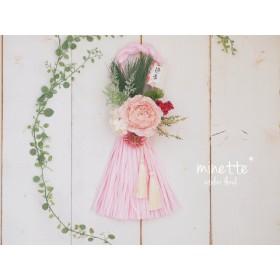 しめ縄飾り 2019 幸せ運ぶさくらピンク お正月飾り クリスマス