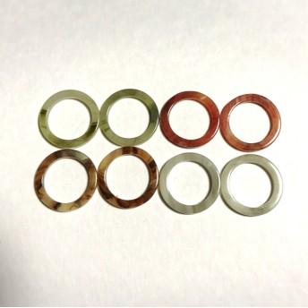 【4色16個】約21mm 天然石風リングパーツ