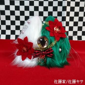 ツリー猫又(ホワイト×グリーン)