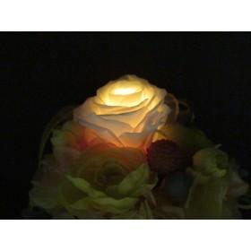光るプリザーブドフラワー/イエローオレンジ~敬老の日ギフト