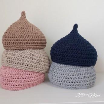 年中素材*オーガニックコットン100%*どんぐり帽子 /11color