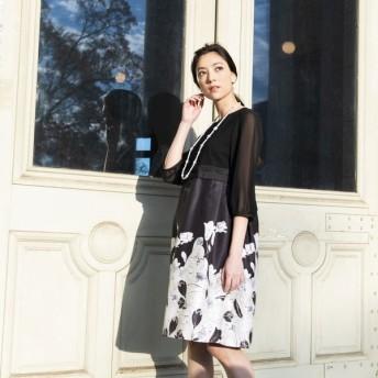 [マルイ]【セール】【ウォッシャブル】フラワーパネルプリントドレス/トゥービーシック(TO BE CHIC)
