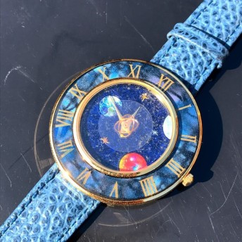 天然石 星 宇宙 惑星 星球 クリソコラ 腕時計