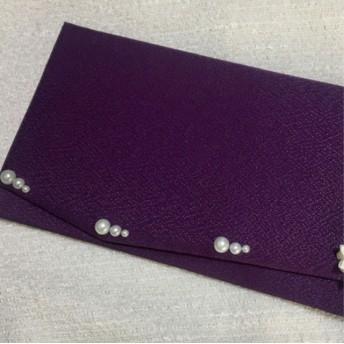 【再販1】新デザイン‼︎紫 和風袱紗/ふくさ/冠婚葬祭/結婚式