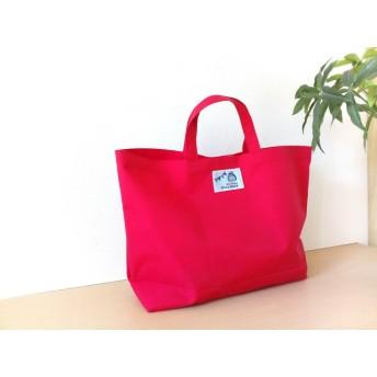 プチトートバッグ【送料無料】プールバッグ 園児 幼稚園 保育園 防水 シンプル レッド 赤 女の子 ナイロン