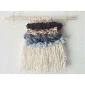 ・rain・毛糸編みこみウォールハンガー