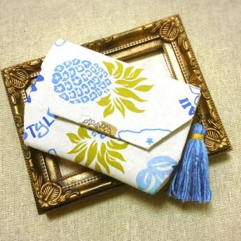 ミニ財布 コインケース タッセル付き Hawaiian柄パイナップル