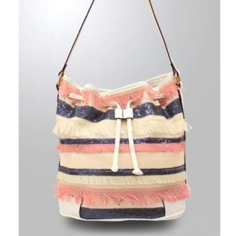 ANAP アナップ スパンコール×フリンジデザインバッグ