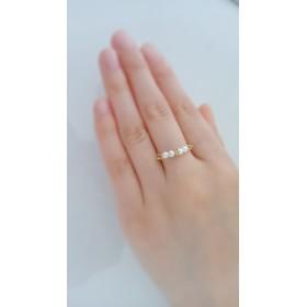 キラキラパール指輪