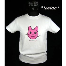★オリジナルデザイン★ピンクのうさぎ猫Tシャツ/新品★