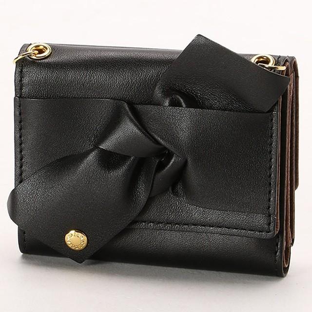 [マルイ]【セール】チェーンショルダー付リボンカブセ3つ折り財布/カル(cal)