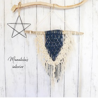 藍染×マクラメタペストリー bohemian lace