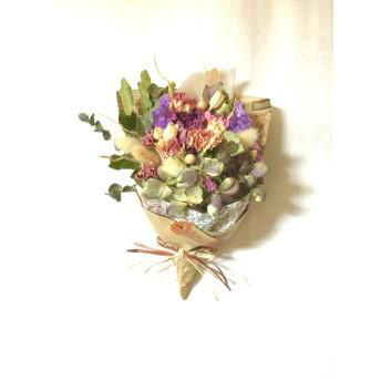 アジサイ&バラのラッピング付き母の日の花束