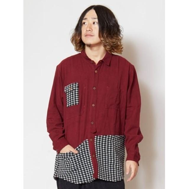 [マルイ] 【チャイハネ】ドットジャガードMEN'Sワークシャツ/チャイハネ(CAYHANE)