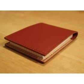 赤い革 ロディアN°11 メモカバー