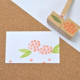 キンモクセイのはんこ 秋のお花はんこ 金木犀スタンプ