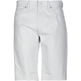 《送料無料》DIESEL メンズ デニムバミューダパンツ ホワイト 28 コットン 97% / ポリウレタン 3%
