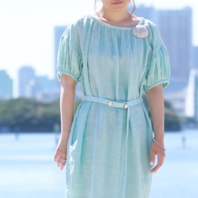 うたた寝ドレス(手もみシャンブレー)BL