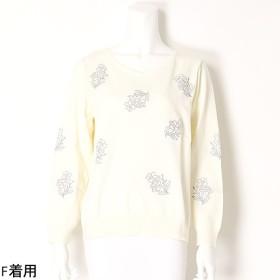 [マルイ]【セール】【大きいサイズ】フラワー刺繍ニット/ラクープ(LACOUPE)