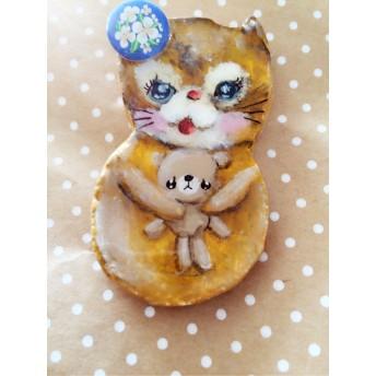 ネコ猫ねこブローチ☆