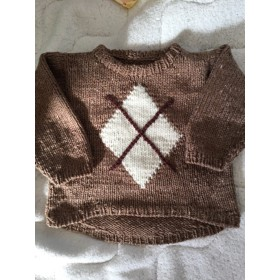 baby アーガイルセーター
