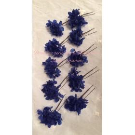 ○紺色のあじさいの髪飾り ヘッドドレス ○ 結婚式 ウェディング パステルカラー 髪飾り ヘアード ヘアアクセサリー ウェディング