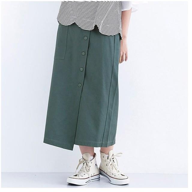 [マルイ]【セール】フロントボタンナロースカート1452/メルロー(merlot)