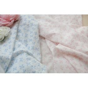ピンク ふわふわさらさら上品リボンの綿ガーゼ 110×50