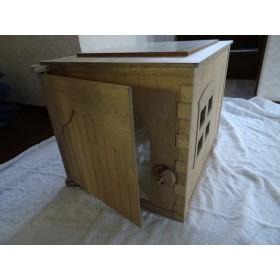 ☆木製 ネコハウジングⅡ (将棋盤つき)