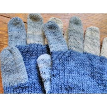 藍染の五本指手袋