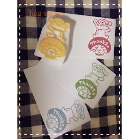 ☆再販1☆キノコのりくまさん!thanks!消しゴムハンコ