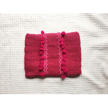 SALE/ POMPON CLUTCH BAG