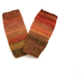 ちぐはぐな世界・指なし手袋(手編み)