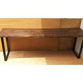 一枚板 テーブル カウンター ダイニング ウォールナット インダストリアル風