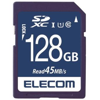 ELECOM MF-FS128GU11R SDXCカード データ復旧サービス付 UHS-I U1 45MB s 128GB SDXCメモリーカード