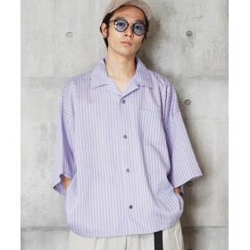[マルイ] 開衿ストライプシャツ ベーシックオープンカラーストライプシャツ/アンリラクシング(unrelaxing)